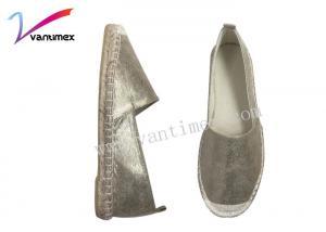 China Straw fisherman flat Ladies Custom Comfort Shoes  jute cloth / ladies espadrille sandals on sale
