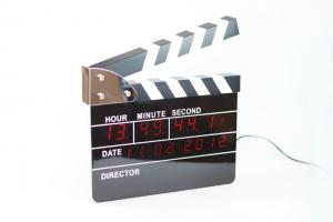 China Alarm Mechanical Clapper Board Clock For Living Room on sale
