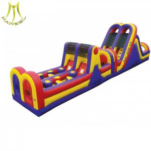 China Hansel 2018  inflatable obstacle course bouncy castle adult inflatable obstacle course on sale