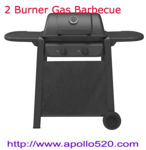 China 2 Burner Gas BBQ Barbecue Garden Camping Black on sale