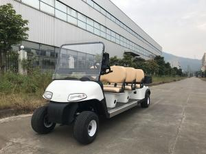 China Installed With Plastic Cargo Box Small Electric Golf Carts 6 Seats Without Car Ceiling on sale