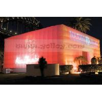 LED solar power tent inflatable cube  tent