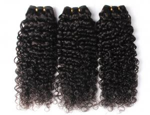 China Double Weft Peruvian Human Hair Weave 10 Inch - 30 Inch Natural Curly on sale