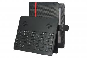 China Embedded PU leather 5V Ipad3 Bluetooth Keyboard Case 2.0 with stereo speaker on sale