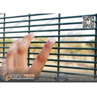 RAL6005 Green Color 358 Anti-climb Welded Mesh Security Fence - China Factory