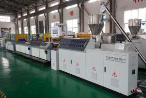 China Recycled Wpc Profile Production Line Extruder For Wood And Plastic Profiles on sale