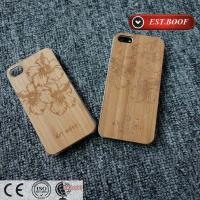 Bamboo Chip PC Apple iPhone Leather Cases Custom With Nice Figure
