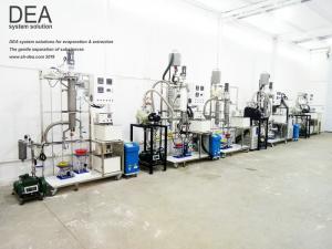China Short Path Essential Oil Distillation Equipment / Wiped Film Evaporator on sale