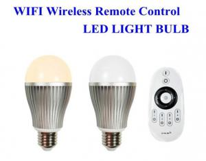 China E27 E26 B22 Wifi smart led light bulbs for pad / phone controlled 30 meters on sale