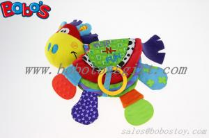 China Plush Colorful Horse Infant Baby Educational Toy Soft Activity Printing Book Toy on sale