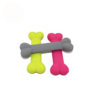 China Bone Shape Pet Play Toys Non - Toxic Silicone Material For Dog Dental Health on sale