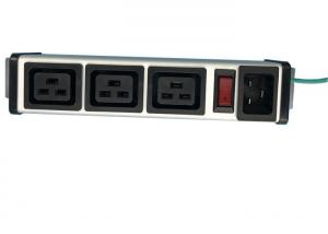 China Aluminum Shell 3 Way PDU Power Distribution Unit With Switch Controlled IEC 320 C19 on sale