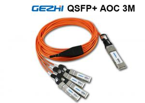 China QSFP+ to 4x SFP+ DAC Cables , 3 Meter QDR Breakout Fiber Optic Cable on sale
