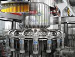 Máquina 3-In-1 Monoblock del relleno en caliente de la eficacia alta para el zumo de fruta/la bebida