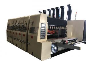 China 4 Color Flexo Printer Slotter Die Cutter Machine Auto Lead Edge Feeding Type on sale