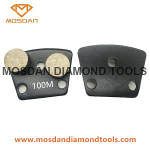 China Trapezoid Double Buttons Grinding Segments 9mm Holes for ASL Machines on sale