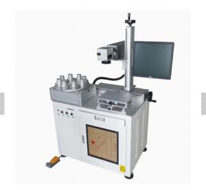 China Lamp Bulb Rotary marking machine/multi-station led bulb fiber laser marking machine on sale