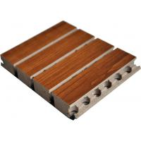 Tongue Wooden Grooved Acoustic Panel , 15mm MDF Sound Wall Panels