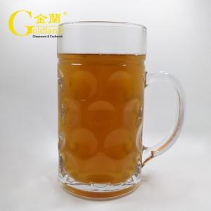 China Belgian Large Beer Mugs 1000ml German Beer Stein Glasses handed beer glasses etched grand beer glasses on sale