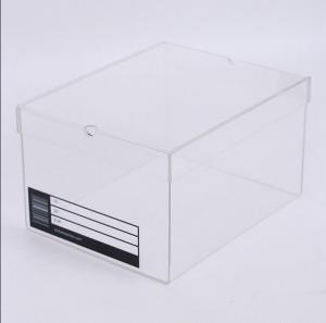 China CE Certificate Wholesale Clear / Transparent Acrylic Shoe Box For Sneaker on sale