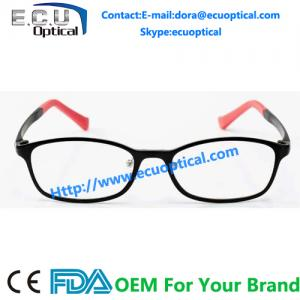 China Full rim oval colorful titanium prescription eyeglasses with ultem temple optical frames on sale