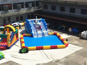 China Outdoor Big Amazing Portable Blast Sharp Slide Inflatable Floating Water Park on sale