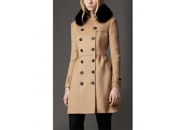 Simple Winter Warm Fur collar Wool Blend Coats Women Teenage Girls Clothes  Images 4f8ebbfb51