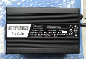 China 24V LiFePO4 Lithium Battery Charger With Red / Blue LED Index Long Service Life on sale