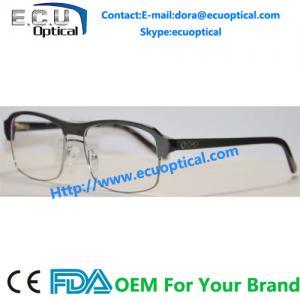 China 2014 New Design Model Metal Half Rim Unisex Optical Eyeglasses Frames on sale