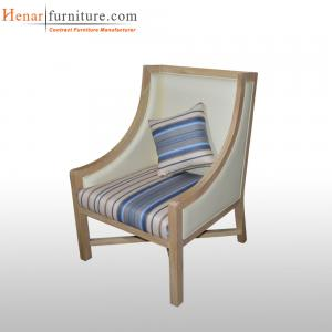 China Spatial Order Henar Modern Swoop Arm Leather Accent Chair Restaurant Furniture on sale