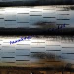 API 5CT K55/J55 219*7mm 20% Open area 1.0mm slot width slotted casing pipe for sand filter to export Ethiopia