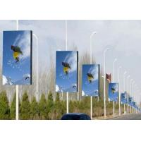 High Resolution Commercial P4 LED Display Advertising Lighting Pole
