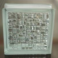 Mosaic pattern clear glass brick manufactured in China