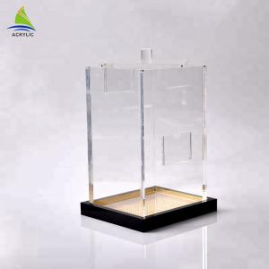China Stackable  Clear Acrylic Storage Box Acrylic Storage Containers Customize Shape on sale