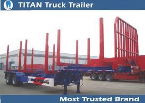 China Two axles long log load gooseneck logging trailer 12,000*2,500*1,560 mm on sale