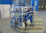 Máquina de ordenha móvel do poder da gasolina com motor elétrico e motor de gasolina