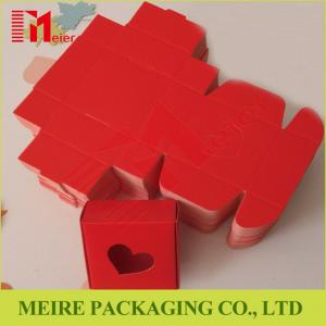 China Small Size Recycled font B-corrugated paper boxes with Heart-shaped die cut design on sale