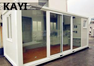 China Charming Steady Mobile Container House Red Floor Panel PVC Window With Decoration on sale