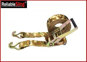 Quality OEM Quick Release Polyester Ratchet Tie Down Strap With Ratchet Buckle for sale