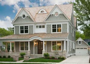 China Environmentally   Light Steel Villa , Luxury Family Modern Steel Structure Homes on sale