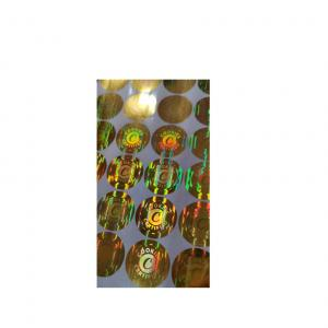 China PVC Anti Counterfeiting Stickers 3D Holographic Tamper Evident Labels on sale
