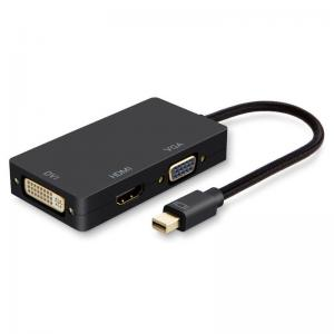 China Multi Function 3-In-1 Mini DisplayPort To HDMI Cable Travel Audio / Video Adapter on sale
