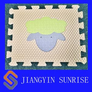 China Odorless Animal Puzzle EVA Foam Sheet Breathable And Washable on sale