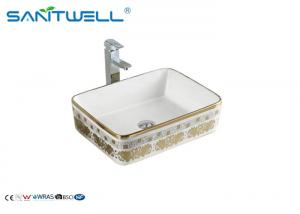 China Elegant Wall Mounted Ceramic Art Basin Special Design For Cabinet AB8025H on sale