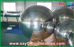 China 0.6mm PVC Inflatable Mirror Ball Silver Balloon Decoration Air Tight Seal Style on sale