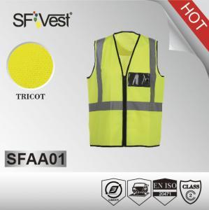China El chaleco de la seguridad de la clase ii, sirve la tela reflexiva y graba EN ISO 20471 del chaleco del guardia de seguridad on sale
