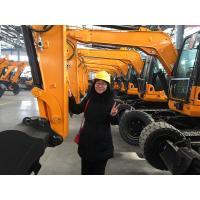 China CE certification 9000kg Crawler & Wheel Excavator Machine With 1 CBM Backhoe Bucket on sale