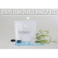 PVC Makeup bag Organiser Black Frosted translucence plastic pvc bag transparent bag, korean cosmetic bag makeup, handle
