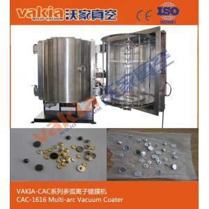 China Alloy Button / Snaps / Rhinestone Thermal Evaporation Coating Unit Vacuum Metalizing Machine on sale