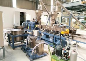 China Plastic Twin Screw Extruder Machine For Filler Masterbatch Making CE ISO Approval on sale
